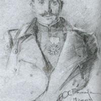 портрет-скица на майор Минчо Сотиров - 19 април 1913г. с.Подима