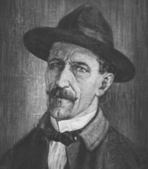 Автопортрет на Васил Атанасов 1915г. , маслини бои фотограф Иван Лилков.