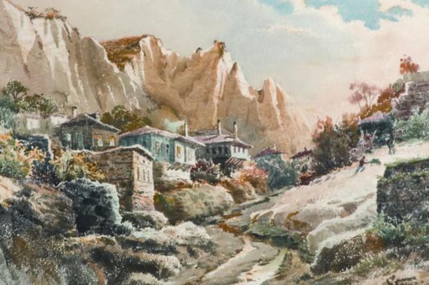 Акварел на Йордан Гешев