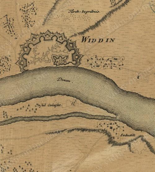 Карта на Видин 1736г.