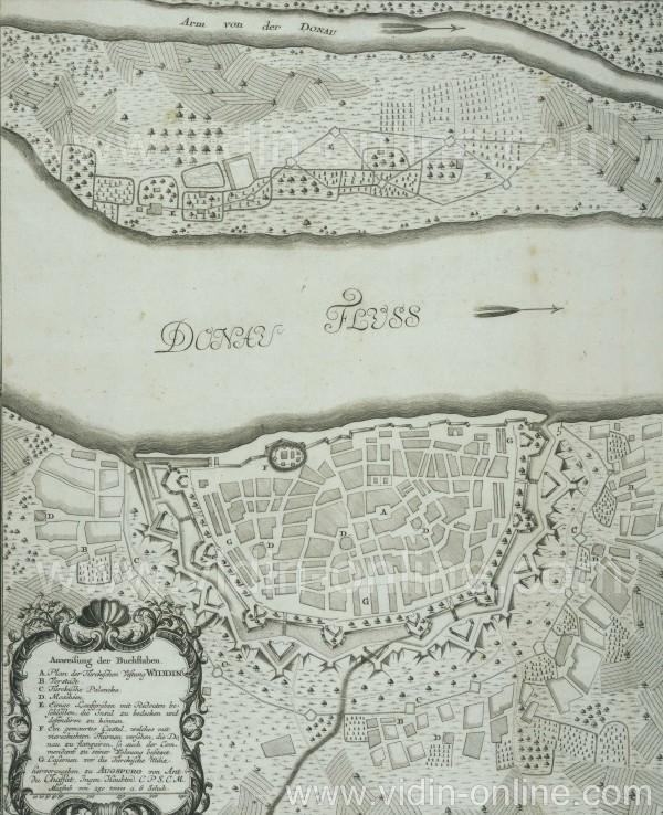 Карта на Видинската крепост