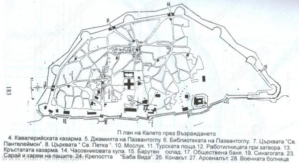 План на калето през възраждането