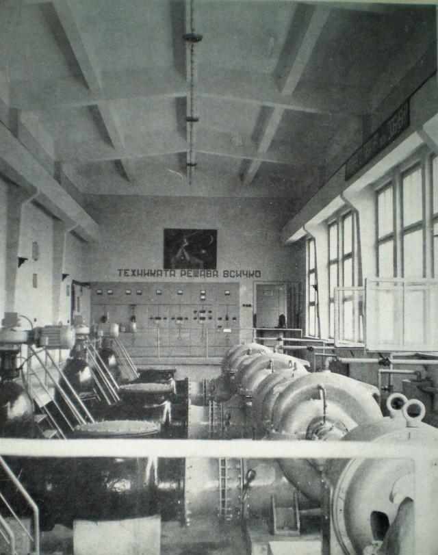 Машинната зала на помпена станция Ясен от Видинската напоителна система