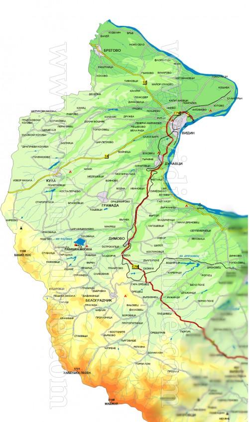 Vidin Oblastna Karta Vidin Onlajn