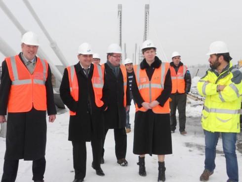 Британски дипломати на Дунав мост Видин-Калафат