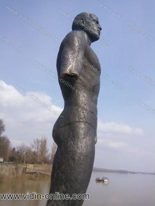 Паметник на плувеца до телеграф капия