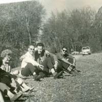 проф.др А.Шелудко и проф.др Гюнтер Крецшмар около Белоградчик 1964