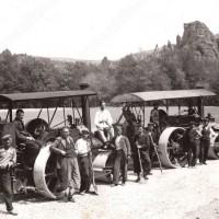Асфалтиране на три километровия път Белоградчик Ивзоз 1939