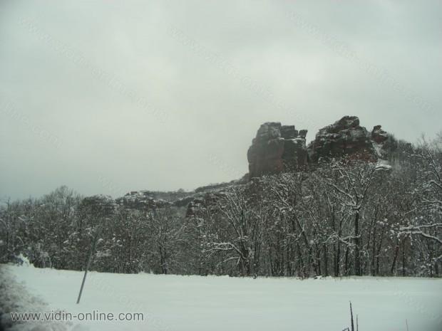 Белоградчишките скали през зимата