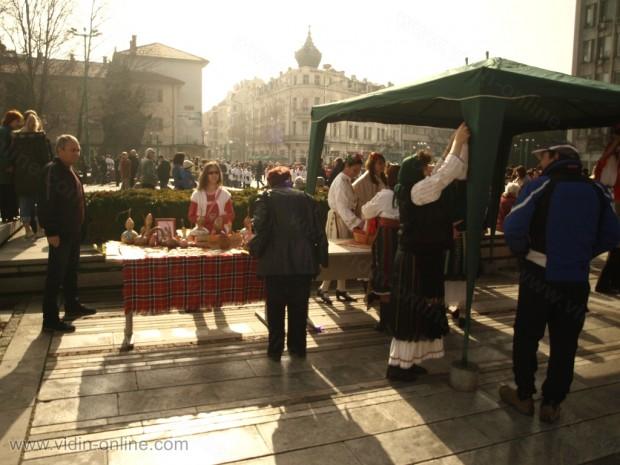 Жива мартеница във Видин