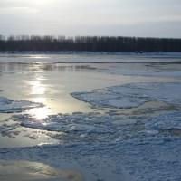 Ледоход по река Дунав