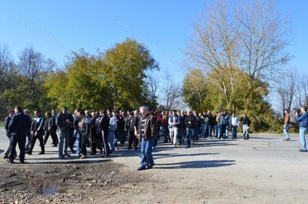 Протест на видинските полицаи