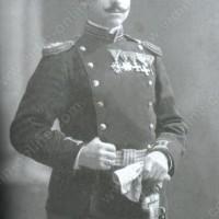 Минчо Сотиров със сабята и ордените - 1 януари 1912г. в град Бургас