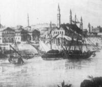 Не случайно Видин е главно пристанище на река Дунав за Българската държава и Османската империя - 1828г. Видин литография Ф.Волф по рисунка на Якоб Алт и чертежи на Людвик Ермини
