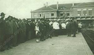 Посрещане на делегатите на ловджийския конгрес през 1931г. - Видин